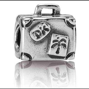 Authentic Pandora Suitcase Sterling Silver Charm